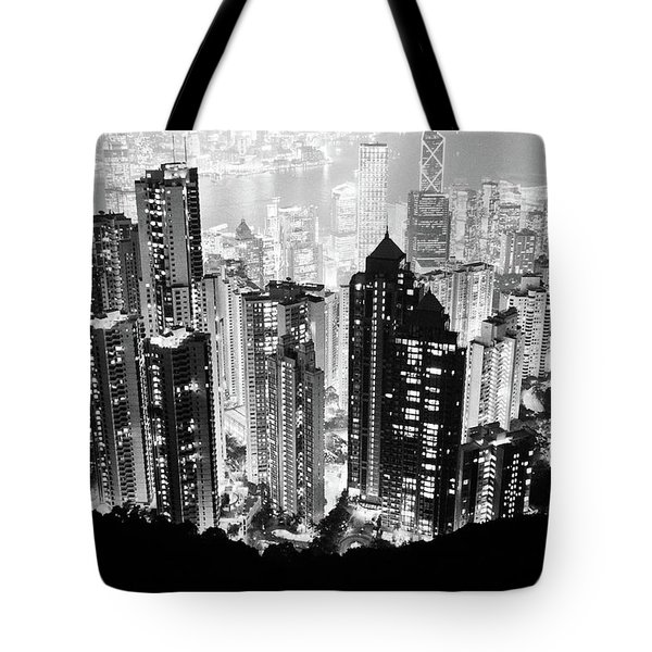 Hong Kong Nightscape Tote Bag by Joseph Westrupp