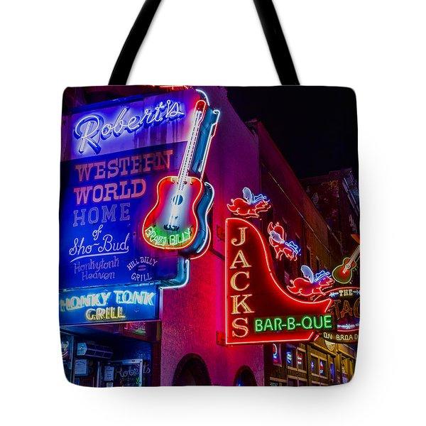 Honky Tonk Broadway Tote Bag by Stephen Stookey