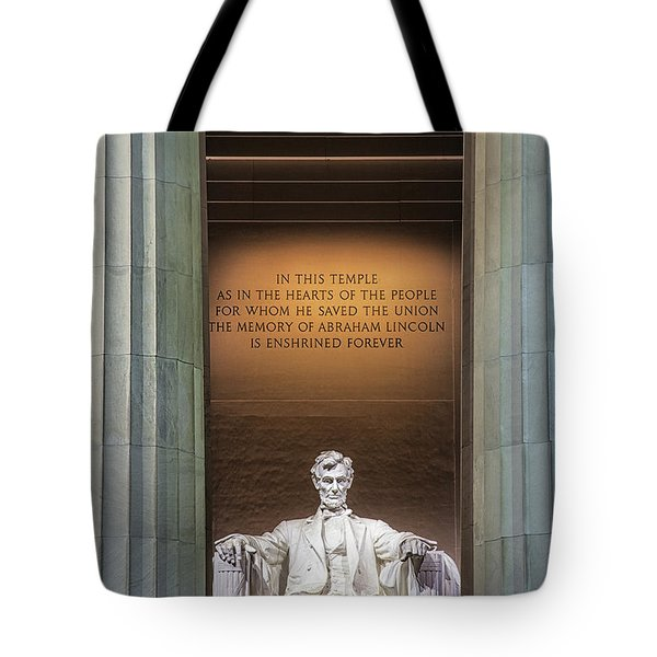 Honored For All Time Tote Bag by Andrew Soundarajan