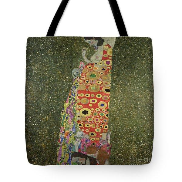 Hope II Tote Bag by Gustav Klimt