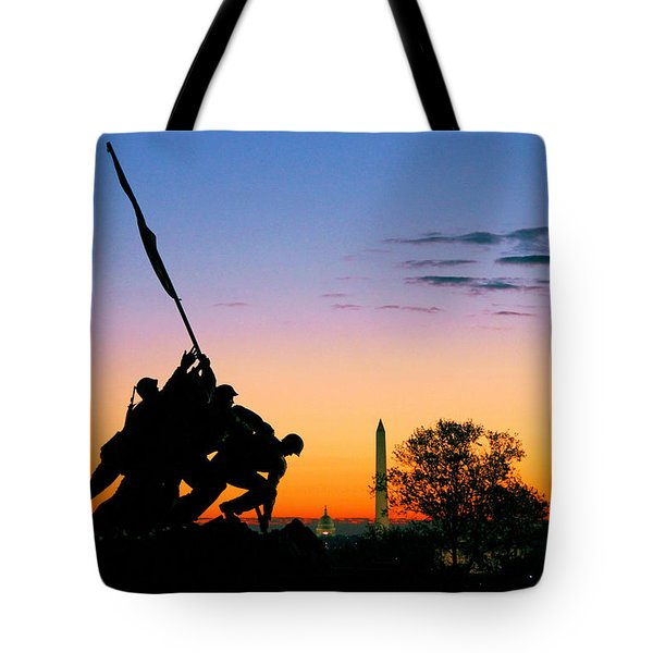 Hopeful As The Dawn Tote Bag by Mitch Cat