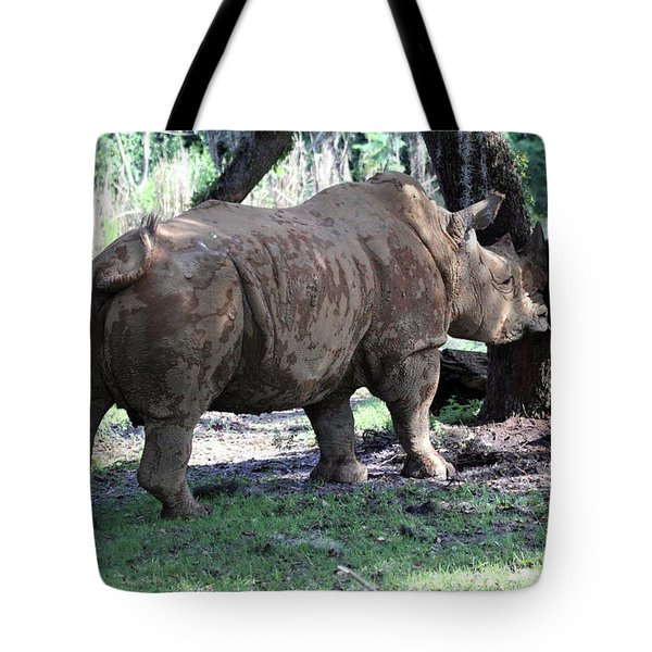 Horn Rubbing Tote Bag by Mary Haber