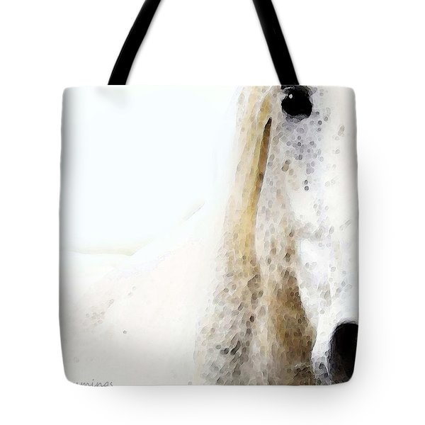 Horse Art - Waiting For You  Tote Bag by Sharon Cummings