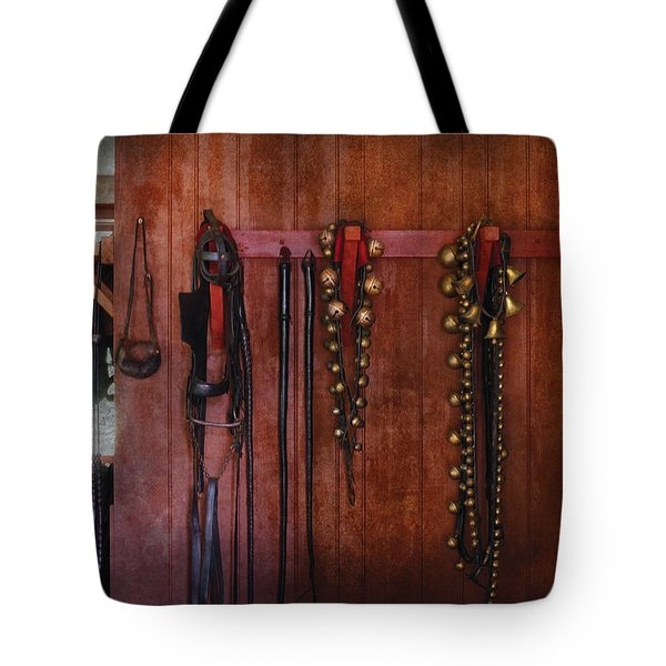 Horse Trainer - Jingle Bells Tote Bag by Mike Savad