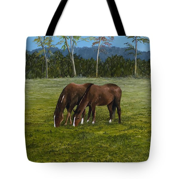 Horses Of Romance Tote Bag by Mary Ann King