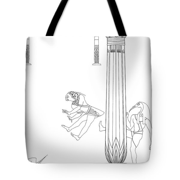 Horus Thoth Smackdown Tote Bag by Stan  Magnan