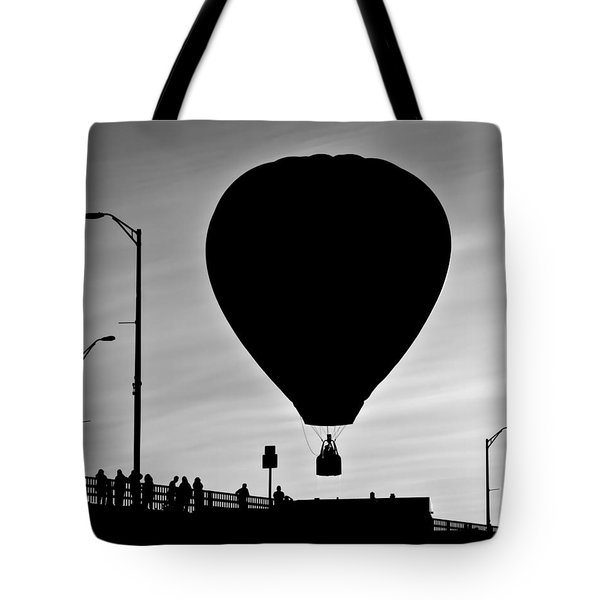 Hot Air Balloon Bridge Crossing Tote Bag by Bob Orsillo