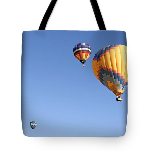Hot Air Balloon Ride A Special Adventure Tote Bag by Christine Till