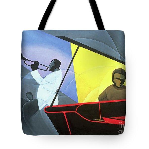 Hot And Cool Jazz Tote Bag by Kaaria Mucherera