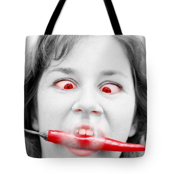 Hot Chilli Woman Tote Bag by Ryan Jorgensen