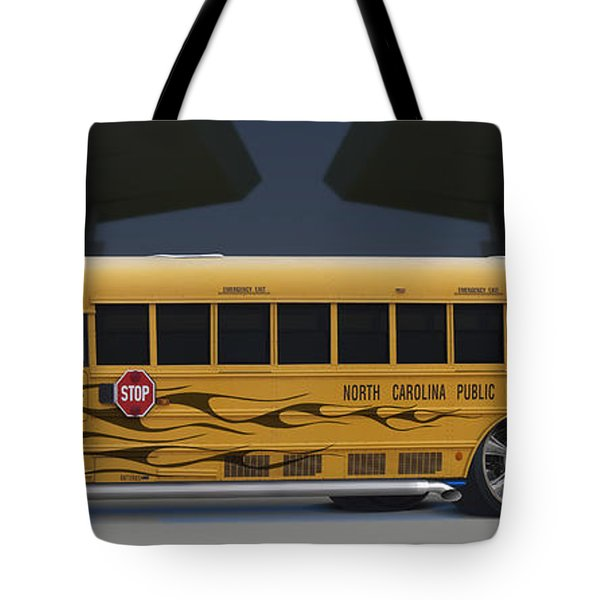Hot Rod School Bus Tote Bag by Mike McGlothlen