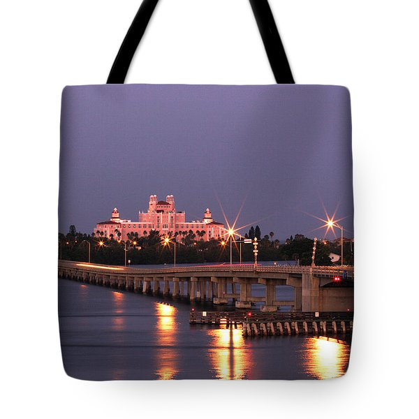 Hotel Don Cesar The Pink Palace St Petes Beach Florida Tote Bag by Mal Bray