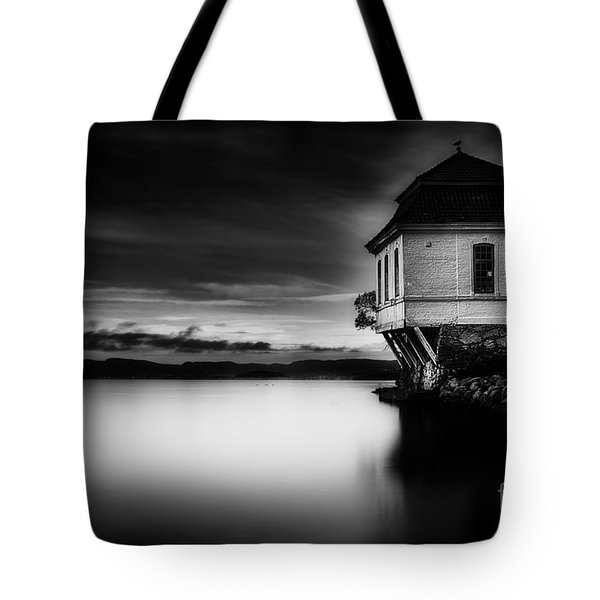 House By The Sea Tote Bag by Erik Brede