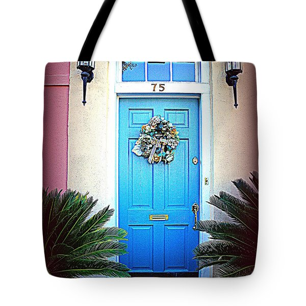 House Door 6 In Charleston Sc Tote Bag by Susanne Van Hulst