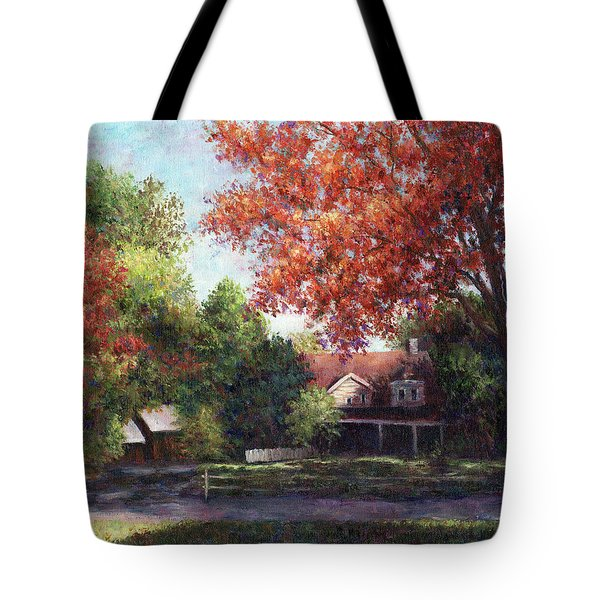House On The Hill Tote Bag by Susan Savad