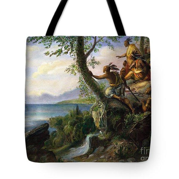 Hudson: New York, 1609 Tote Bag by Granger
