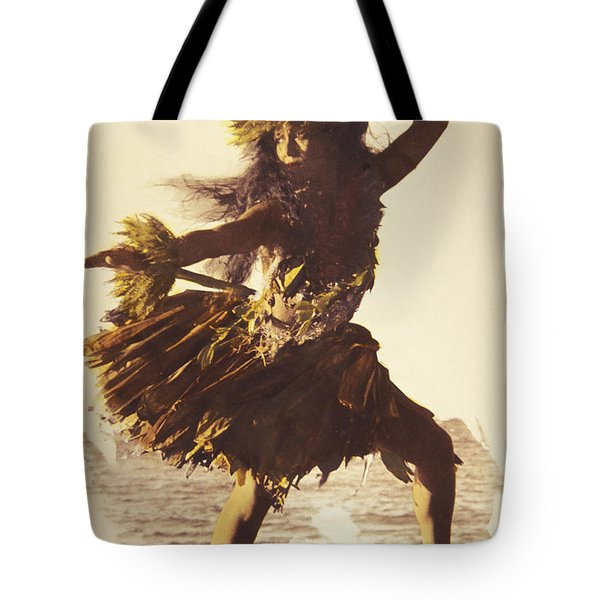 Hula In A Ti Leaf Skirt Tote Bag by Himani - Printscapes
