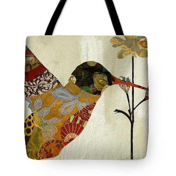 Hummingbird Brocade IIi Tote Bag by Mindy Sommers