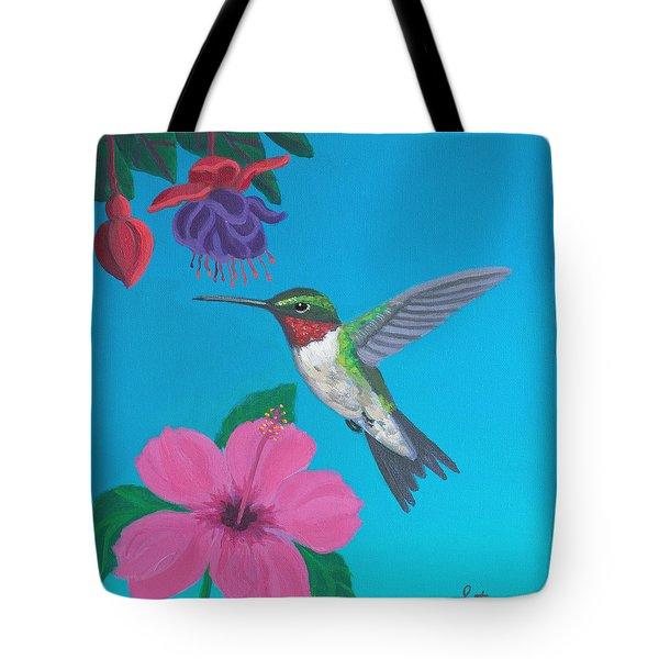 Hummingbird Heaven Tote Bag by Frank Strasser
