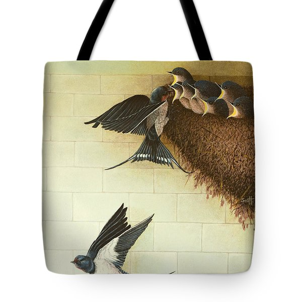 Hungry Mouths Tote Bag by Pat Scott