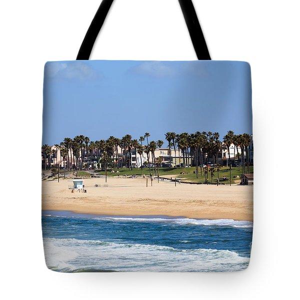 Huntington Beach California Tote Bag by Paul Velgos