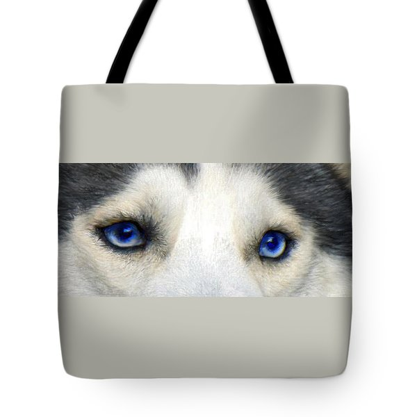 husky eyes Tote Bag by Jane Schnetlage