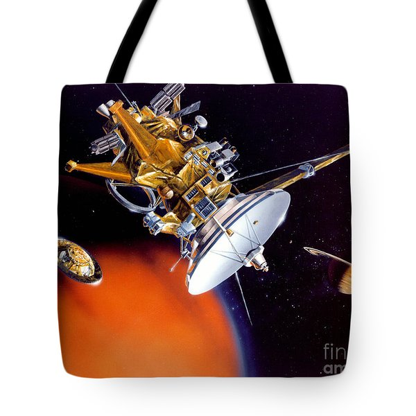 Huygens Probe Separating Tote Bag by NASA and Photo Researchers