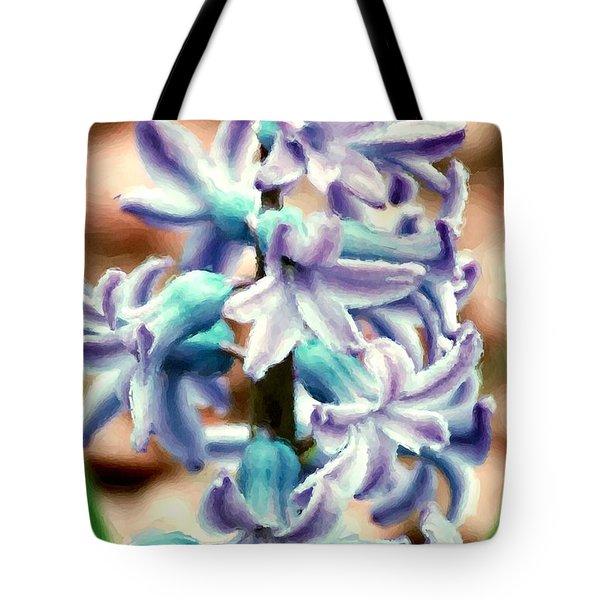 Hyacinth Photo Manipulation  Tote Bag by David Lane