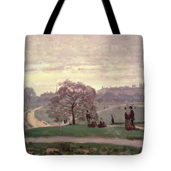 Hyde Park Tote Bag by Claude Monet