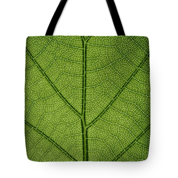 Hydrangea Leaf Tote Bag by Steve Gadomski