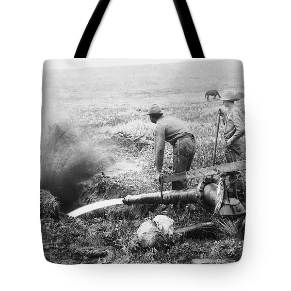 Hydraulic Gold Mining C. 1889 - S. Dakota Tote Bag by Daniel Hagerman