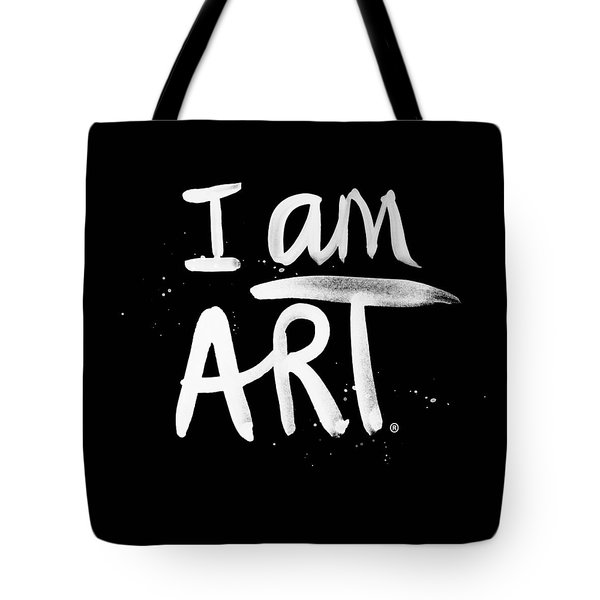 I Am Art- Painted Tote Bag by Linda Woods