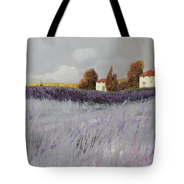 i campi di lavanda Tote Bag by Guido Borelli