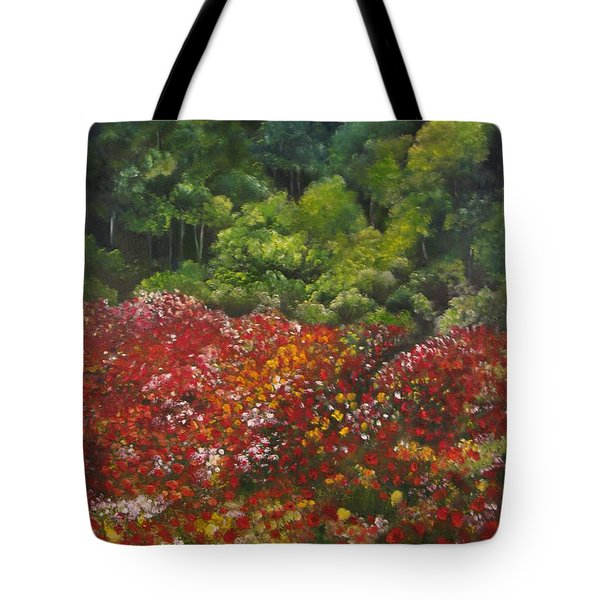I Dream Of Poppies Tote Bag by Carol Sweetwood