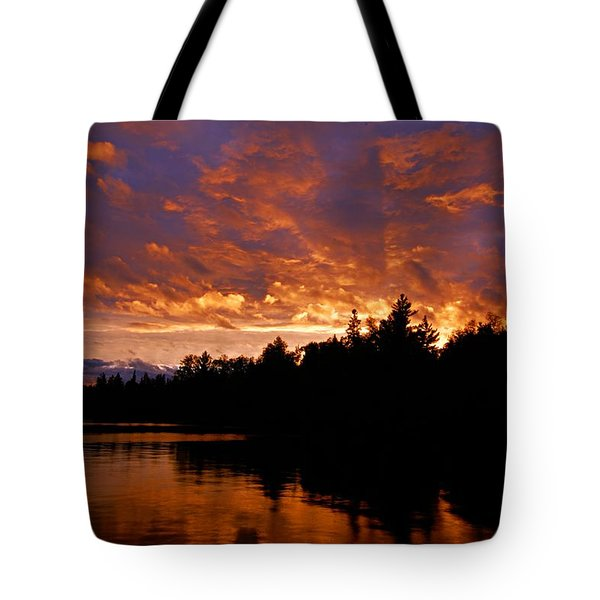 I Have Seen Rain And I Have Seen Fire Tote Bag by Larry Ricker