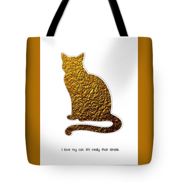 I Love My Cat Tote Bag by Shivonne Ross