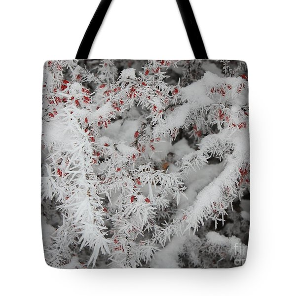 I Love Winter Tote Bag by Carol Groenen