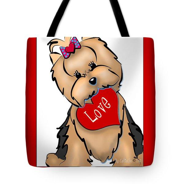 I Love You Tote Bag by Catia Cho
