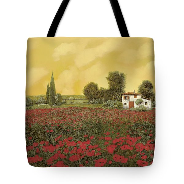 i papaveri e la calda estate Tote Bag by Guido Borelli