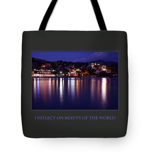 I Reflect On Beauty Of The World Tote Bag by Donna Corless