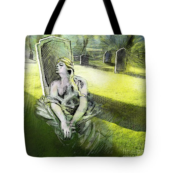 I Wish You Were Here Tote Bag by Miki De Goodaboom