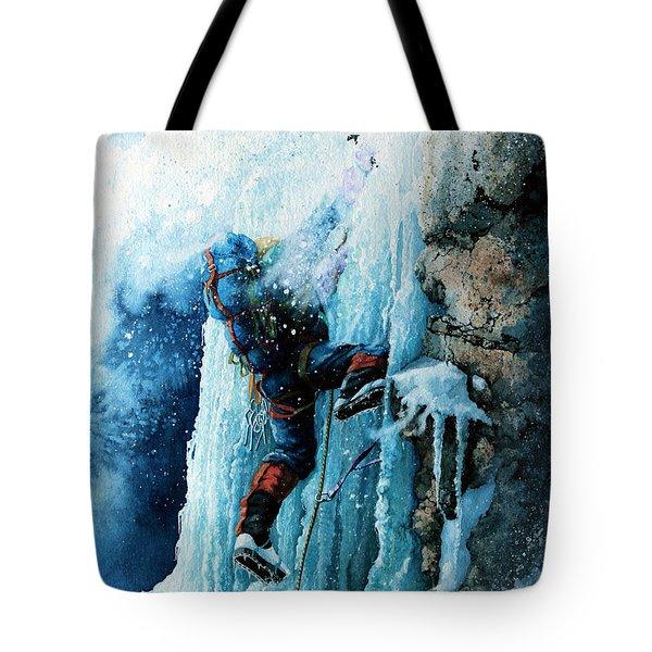 Ice Climb Tote Bag by Hanne Lore Koehler