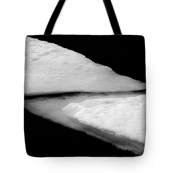 Ice Flow Tote Bag by Dave Bowman