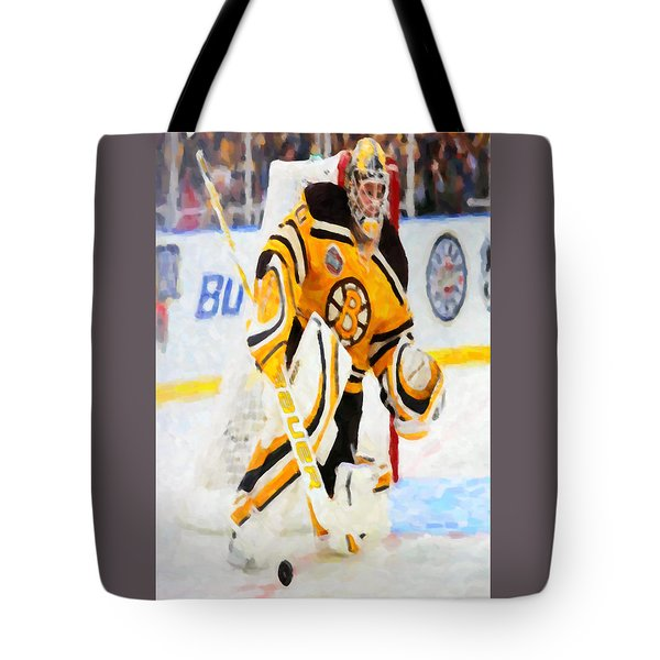 Ice Hockey Goalie Tote Bag by Lanjee Chee