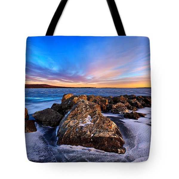 Icebound 2 Tote Bag by Bill Caldwell -        ABeautifulSky Photography