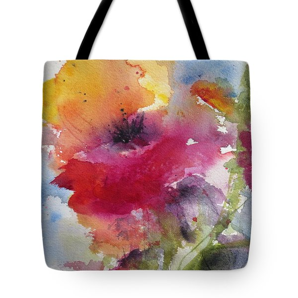 Iceland Poppy Tote Bag by Anne Duke