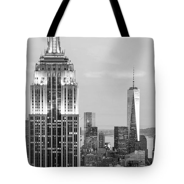 Iconic Skyscrapers Tote Bag by Az Jackson
