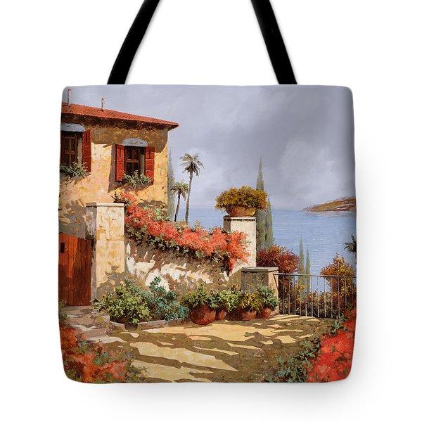 il giardino rosso Tote Bag by Guido Borelli