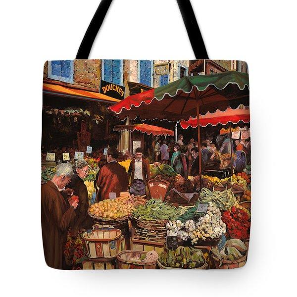 il mercato di quartiere Tote Bag by Guido Borelli