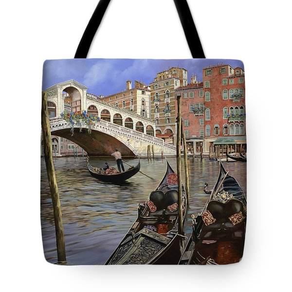 Il Ponte Di Rialto Tote Bag by Guido Borelli